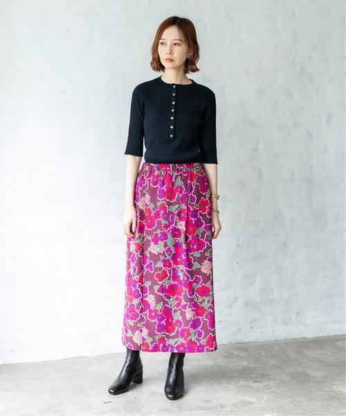 大人可愛いスカートファッション