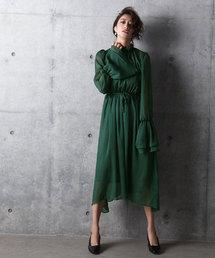 amorous insense(アモラスインセンス)のフリルネックロングワンピース(ドレス)
