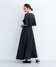 merlot plus(メルロープリュス)のビスチェ風レース切替ロングドレス1326(ドレス)