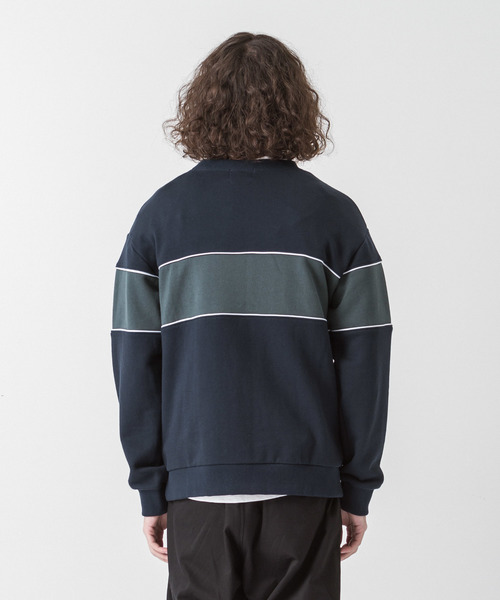[SLICK/スリック] ブロッキングスウェットシャツ