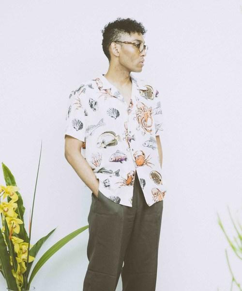 日本人気超絶の 【セール】Under the Skin Shirt (アンダーザスキン)/ セットアップ Skin/ 総柄シルクタッチ半袖アロハシャツ Delicious Seafood Silk Shirt UTS-03202(シャツ/ブラウス)|ability(アビリティ)のファッション通販, sunsetmasu:1915023d --- tsuburaya.azurewebsites.net