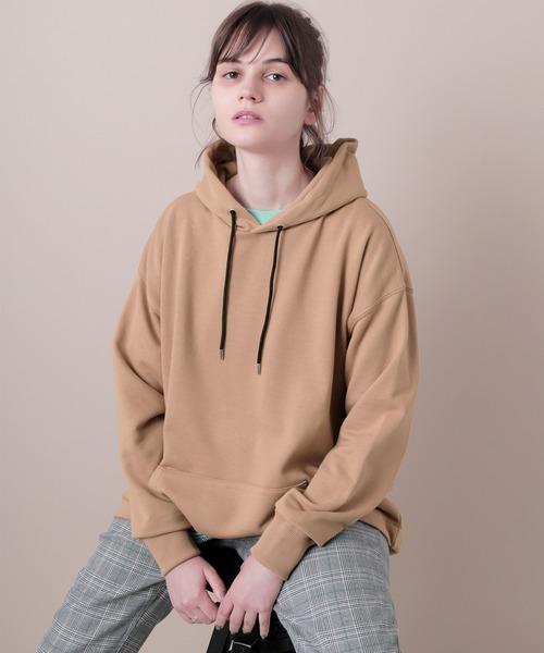 CVC杉綾裏毛オーバーサイズプルオーバーパーカー(EMMA CLOTHES)