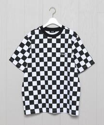 <WE11DONE>ALLOVER CHECKEBOARD T-SHIRT/Tシャツ.