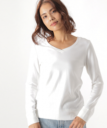 BAYFLOW(ベイフロー)のストレッチスムースVネックT(Tシャツ/カットソー)