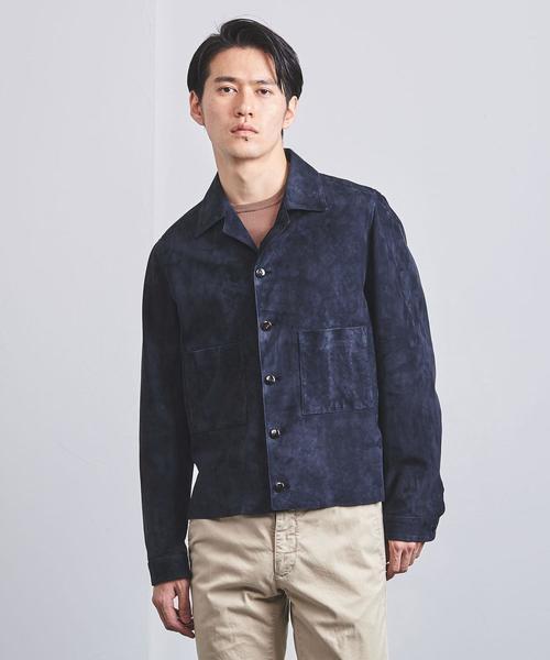 <HEDIN(エディン) > スウェード CPO シャツ