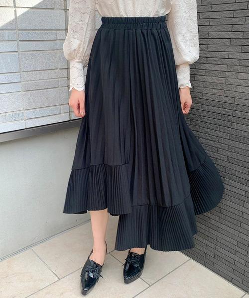 【titty&Co.PETIT】プリーツ切替スカート