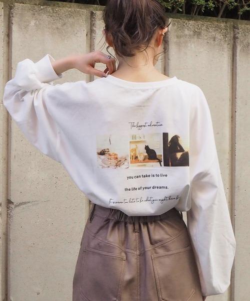 tiptop(ティップトップ)の「2020AW フォトロゴロンT(Tシャツ/カットソー)」|オフホワイト