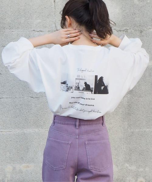 tiptop(ティップトップ)の「2020AW フォトロゴロンT(Tシャツ/カットソー)」|アイボリー