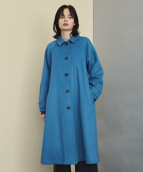 UNITED TOKYO(ユナイテッドトウキョウ)の「フォワードステンカラーコート(ステンカラーコート)」 ブルー