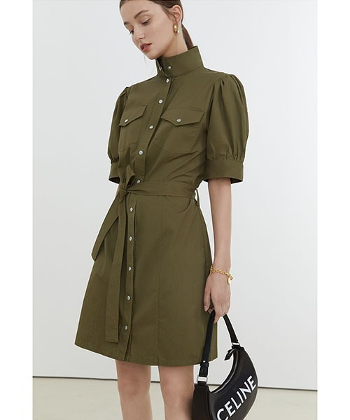 【Fano Studios】【2021SS】Stand collar military dress FX21L152