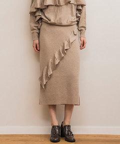【STYLEBAR】フリルニットスカート
