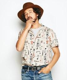 HYSTERIC GLAMOUR(ヒステリックグラマー)のTHE FUZZ総柄 半袖オープンカラーシャツ(シャツ/ブラウス)
