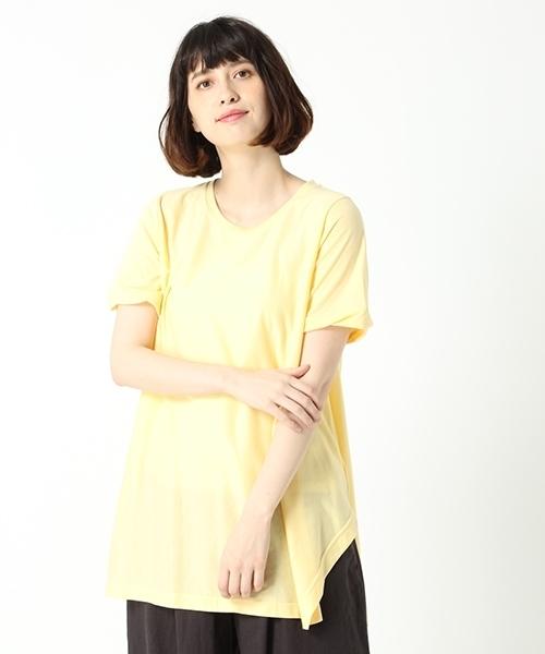 【WEB限定プラスサイズ】フレアラインクルーネックチュニック