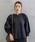 select MOCA(セレクトモカ)の「スタンドカラーペプラムバルーンスリーブクルミボタン長袖ブラウス(シャツ/ブラウス)」|ブラック
