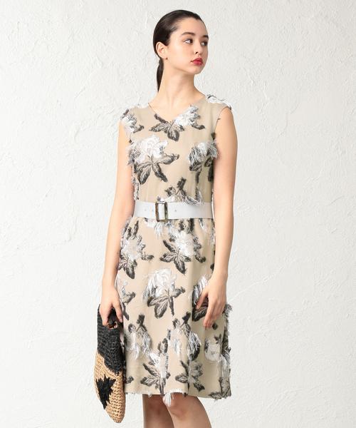 【E_EPOCA THE SHOP】ジャガードドレス