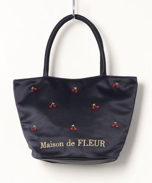 50cd9765ac17 Maison de FLEUR(メゾンドフルール)のチェリートートバッグ(トートバッグ)