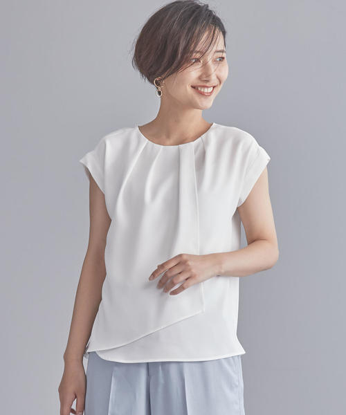 【WORK TRIP OUTFITS】CS フロントダブルタック ブラウス