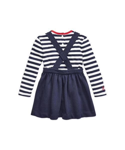 Polo Ralph Lauren Childrenswear(ポロラルフローレンチャイルドウェア)の「Tシャツ & オーバーオール ドレス セット(ワンピース)」 詳細画像