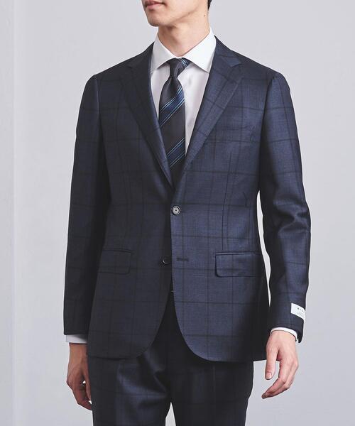 <SOVEREIGN(ソブリン)> ネイビーチェック 3B スーツ C-MODEL