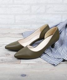 Shoes in Closet(シューズインクロゼット)のサイドオープンミドルヒールパンプス(パンプス)