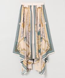 JEANASIS(ジーナシス)のシフォンアソートスカーフスカート/844125(スカート)