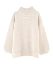 ネック刺繍ロングニットPO(ニット/セーター)