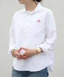 DANTON/ダントン オックスプルオーバーシャツ OX PULLOVER SHIRT JD-3564YOX(ウィメンズ)ホワイト