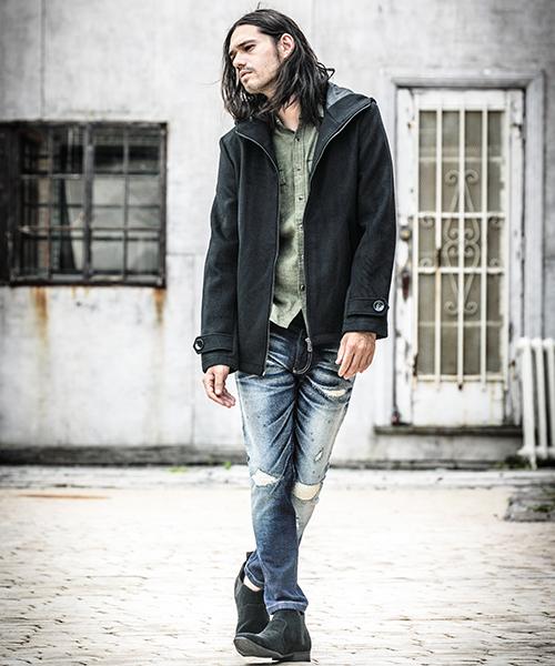 mp5423 - CAMBIO別注 wjk Hard Damage Crush Tight Knit Denim Pants