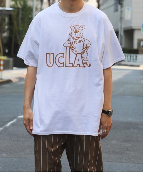 SUNNY  SPORTS(サニースポーツ)の「SUNNY SPORTS/サニースポーツ UCLA 100TH 90S BEAR TEE(Tシャツ/カットソー)」|ホワイト