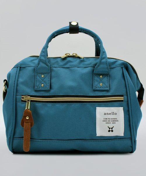anello(アネロ)の「ミニボストンバッグ ポリ キャンバス anello(ショルダーバッグ)」|ブルー