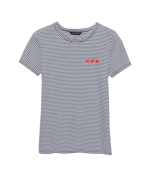 スーピマコットン ハートグラフィックTシャツ