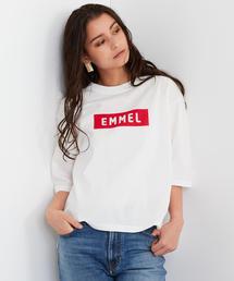 【EMMEL REFINES】SMF 裾スリット C/N ロゴ Tシャツ