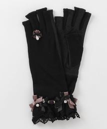 aab2ede51b7fd axes femme(アクシーズファム)のバラリボンショートUV手袋(手袋)