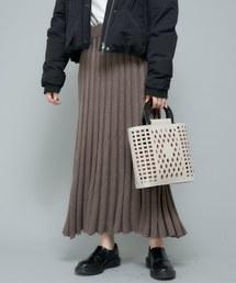 CIAOPANIC(チャオパニック)のニットプリーツロングスカート(スカート)