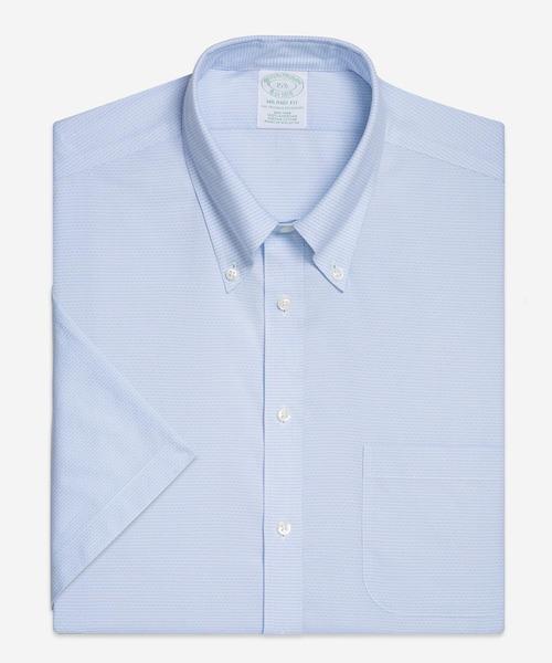 ノンアイロン コットンドビー ショートスリーブドレスシャツ New Milano Fit