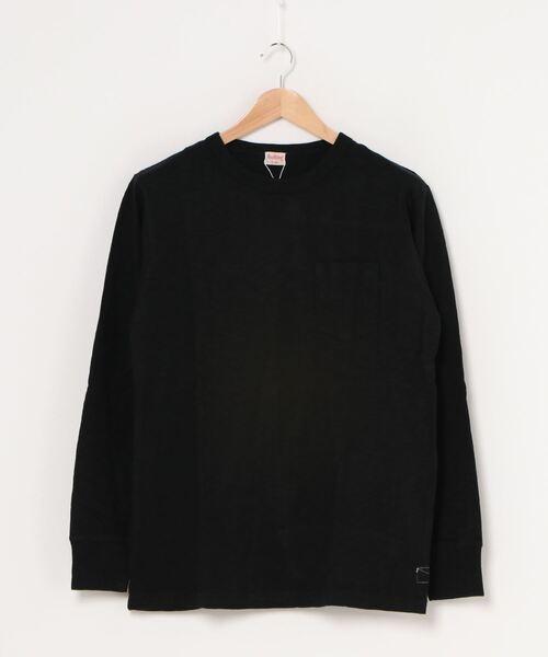 【 Healthknit / ヘルスニット 】マックスウェイトスラブクルーネック長袖ポケットTシャツ 7519 SIP・・
