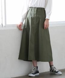 ベイカーストレッチロングスカート
