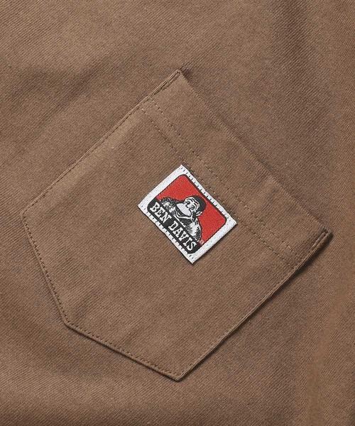 WEB限定 BEN DAVIS/ベンデイビス  ワンポイント ロゴ ポケットTシャツ