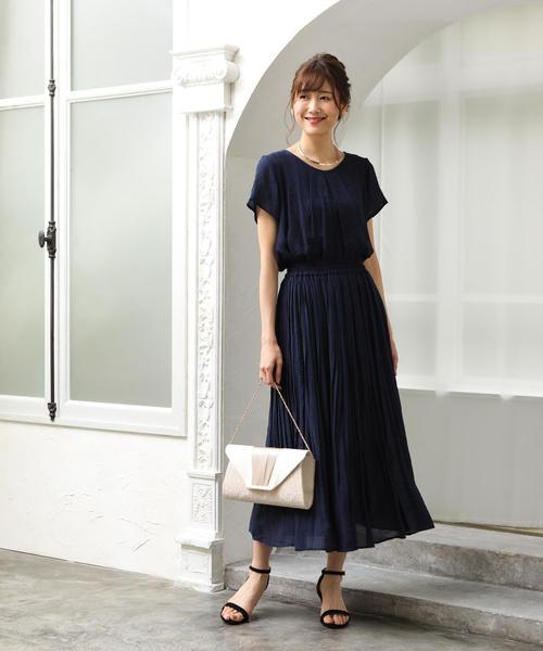 【WEB限定 手洗いできる】ウォッシャブルスラブランダムプリーツスカート