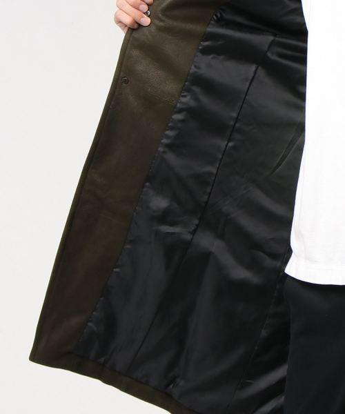 TORNADO MART(トルネードマート)の「TORNADO MART∴ゴートバフィングスタンドコート(ライダースジャケット)」 詳細画像