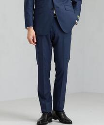 [ レダ ] REDA グレンチェック スリム ノープリーツ スーツ パンツ スラックス