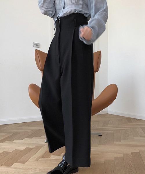【chuclla】 High waist wide slacks sb-4 chw1151