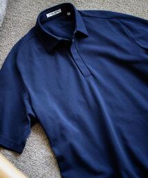 <UNITED ARROWS> カノコ フロントフライ ポロシャツ