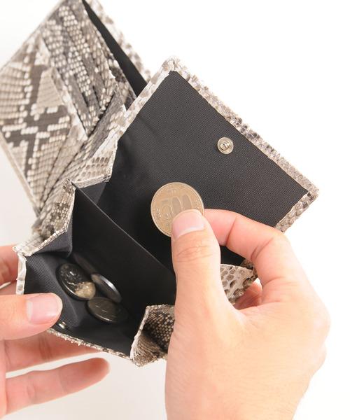 ダイヤモンドパイソンレザー二つ折り財布