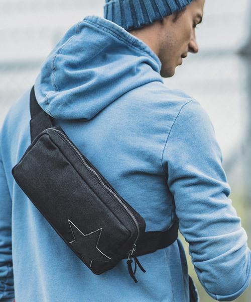 高速配送 mko8353-One Body Star Denim Leather Body Bag Bag ボディバッグ(ボディバッグ/ウエストポーチ) Leather|felkod(フィルコッド)のファッション通販, 犬ステッカー介護ハーネス-ワラ犬:591b7a87 --- rise-of-the-knights.de