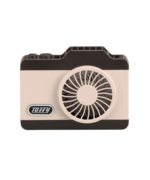 Toffy(トフィー)の「【Toffy/トフィー】 LEDハンズフリーカメラファン(生活家電/PCグッズ)」 ピンク