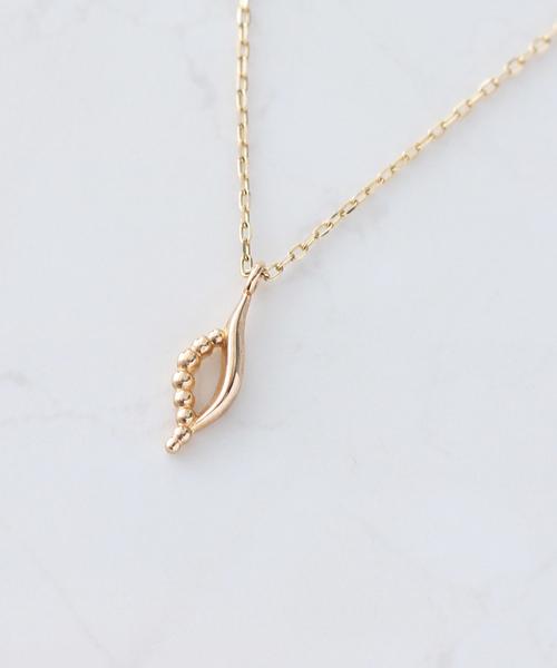NOIR DE POUPEE(ノワールドプーペ)の「K10レイヤー モチーフ ゴールド ネックレス(ネックレス)」|ゴールド