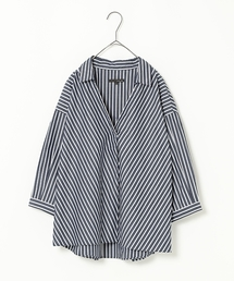 【ADVANCE LINE】カラーストライプスキッパーシャツ(シャツ/ブラウス)