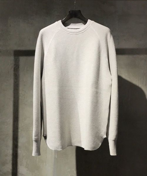bukht(ブフト)の「bukht/ブフト/10G Garter Knit(ニット/セーター)」|グレー