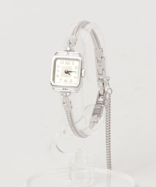 047612cfb3 スクエアフェイスジュエリーウォッチ 【A.CNO.2WG時計】|腕時計|agete ...